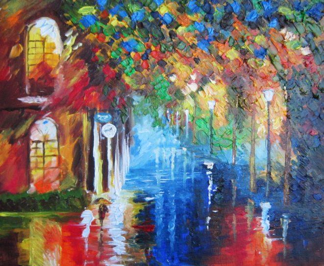 маслени бои - пейзаж