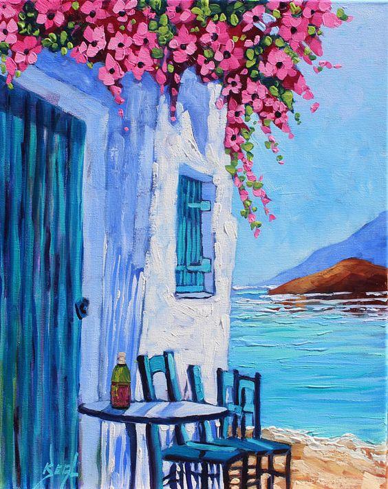 Рисуване с чаша вино 4